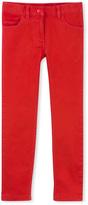 Petit Bateau Girls five-pocket jeans in colored denim