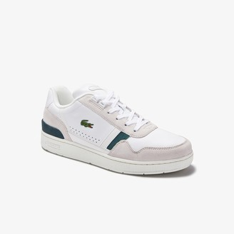 Lacoste Men's T-Clip Leather and Suede Trainers