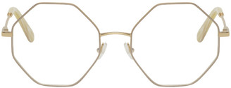 Chloé Gold Metal Octagon Glasses