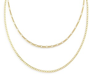 Adina's Jewels Adinas Jewels Double Chain Necklace, 15 and 17