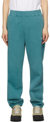 Stussy Green Stock Logo Lounge Pants