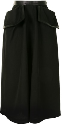 Loewe High-Waisted Trimmed Skirt