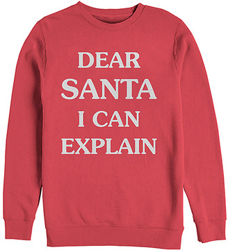 Chin Up Apparel Women's Sweatshirts and Hoodies RED - Red 'Dear Santa, I Can Explain' Crewneck Sweatshirt - Women