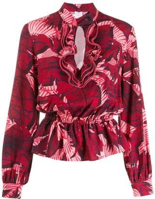 Stella Jean floral ruffle blouse