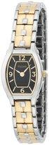 Pulsar Women's PTA385 Dress Black Dial Two-Tone Watch