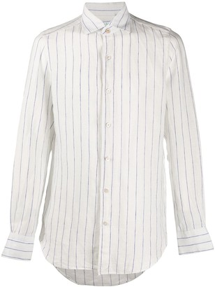 Finamore 1925 Napoli Linen Long-Sleeved Shirt