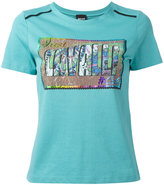 Just Cavalli rainbow logo T-shirt - women - Cotton - XS