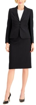 Le Suit Shawl-Collar Skirt Suit