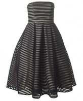 Forever Unique Ribbed Full Skirt Strapless Dress