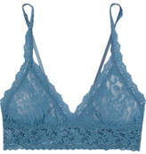 Hanky Panky Signature Stretch-lace Soft-cup Bra - Storm blue