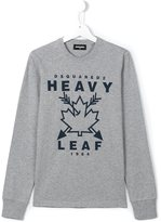 DSQUARED2 heavy leaf print T-shirt