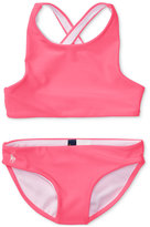 Ralph Lauren 2-Pc. Cross-Back Swimsuit, Toddler & Little Girls (2T-6X)