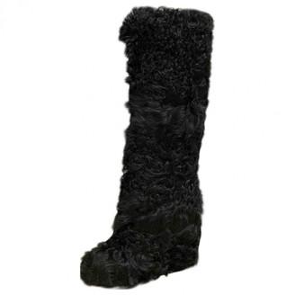 A.F.Vandevorst Black Mongolian Lamb Boots