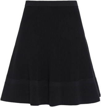 Boutique Moschino Flared Stretch-knit Mini Skirt