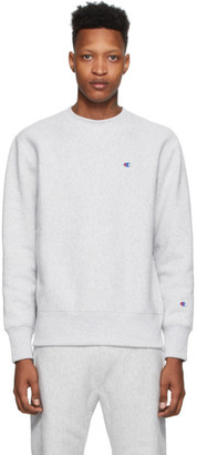 Champion Reverse Weave Grey Logo Sweatshirt