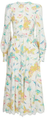 Andrew Gn Butterfly Print Dress