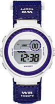 JCPenney FASHION WATCHES Womens Nylon Strap Digital Sport Watch