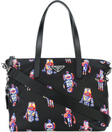 Prada robots print toe bag - women - Polyamide - One Size