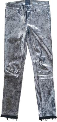 RtA Metallic Leather Trousers
