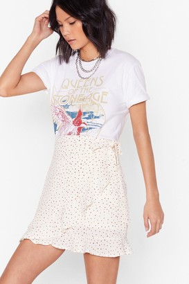 Nasty Gal Spot the Signs Wrap Mini Skirt