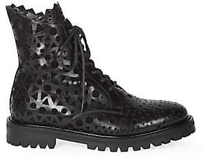 Alaia Women's Cutout Leather Combat Boots