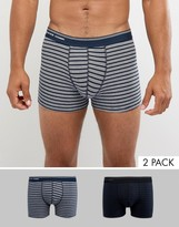Selected Homme 2 Pack Trunk In Stripe