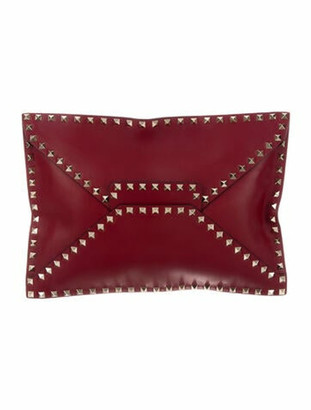 Valentino Rockstud Untitled Envelope Clutch olive