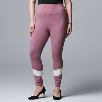 Plus Size Simply Vera Vera Wang Live-In High Rise Fashion Legging