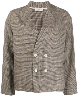 Barena Houndstooth-Pattern Double Breasted Blazer