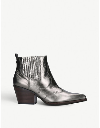 Sam Edelman Winona leather metallic ankle boots