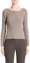 Armani Collezioni Women's Checkerboard Cashmere Sweater