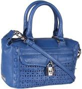Jessica Simpson Madison Perforated Mini Satchel (Denim) - Bags and Luggage