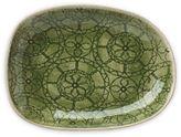 Wonki Ware Salsa Plate in Green Wheel