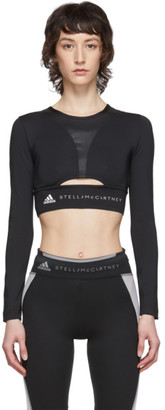 adidas by Stella McCartney Black Training Long Sleeve Top