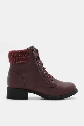 Ardene Faux Leather Combat Boots - Shoes |