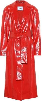 MSGM Vinyl trench coat
