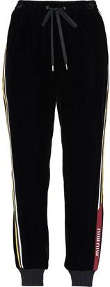 Miu Miu Velvet Side Stripe Track Pants