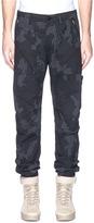 Stone Island Check grid camouflage print ripstop pants