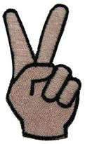 Logophile Embroidered Peace Sign Patch