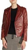 Maje Women's Belted Leather Jacket