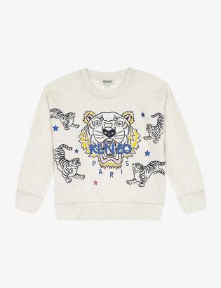 Kenzo Tiger logo cotton sweatshirt 4-14 years