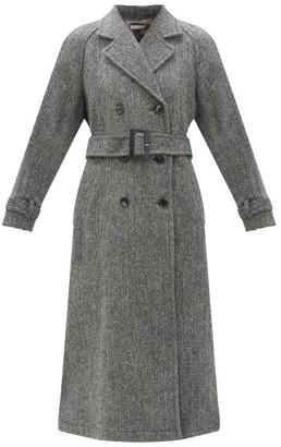 Bella Freud John's Double-breasted Herringbone Wool-tweed Coat - Grey