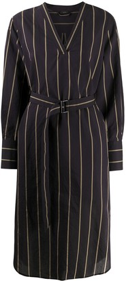 Joseph Striped Tie-Waist Dress
