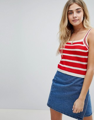 Honey Punch Cami Top In Stripe Knit