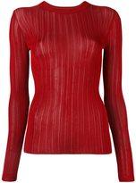 DKNY sheer stripe jumper - women - Viscose - M