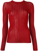 DKNY sheer stripe jumper