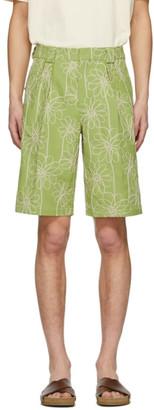 Jacquemus Green Le Short De Costume Shorts