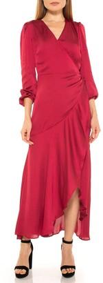 Alexia Admor Ruffle Wrap Maxi Dress