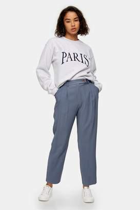 Topshop PETITE Dusty Blue Peg Pants