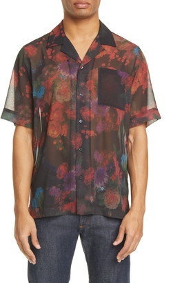 Dries Van Noten Carltone Floral Short Sleeve Button-Up Shirt
